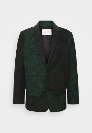 ANTS SHOWERTILES - Blazer jacket - black/dark green