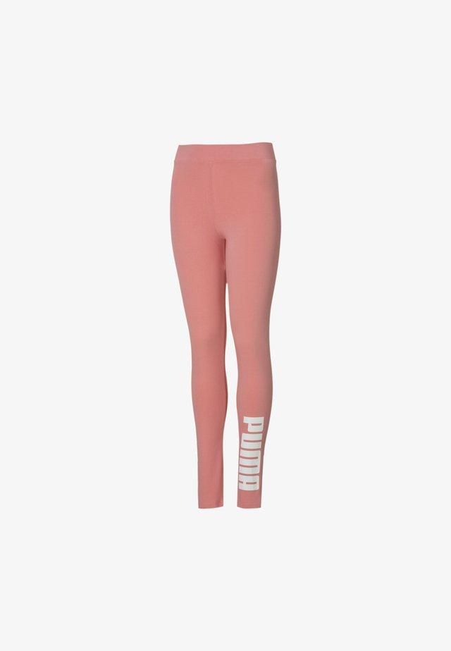 Legging - salmon rose/white