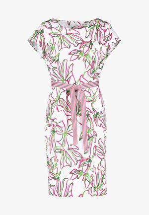 Day dress - weiß azalea palm druck