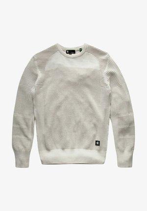 3D BIKER KNITTED  - Stickad tröja - whitebait/charcoal