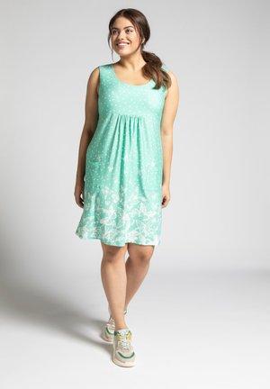 GRÖSSEN JERSEY - Jersey dress - aquagrün