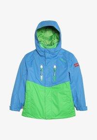 medium blue/bright green