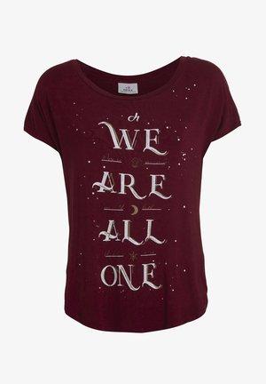 Print T-shirt - cassis