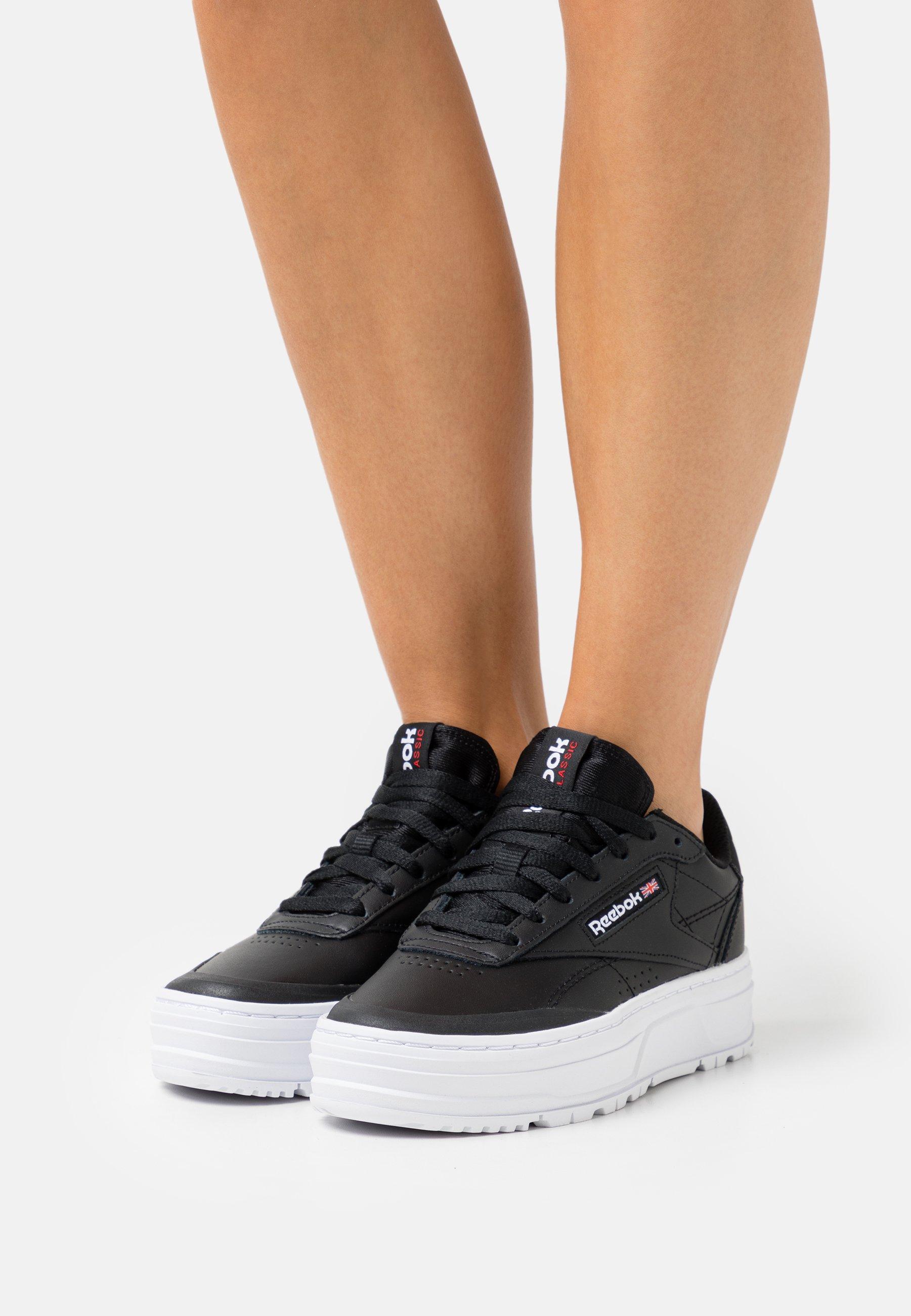 Femme CLUB C DOUBLE GEO - Baskets basses - core black/footwear white/pure grey