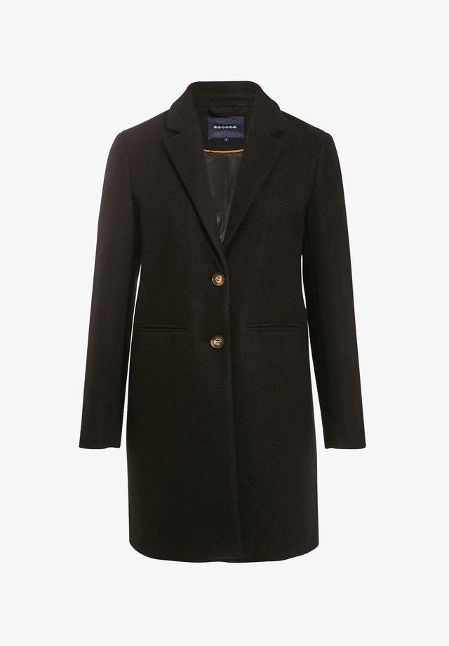 Halflange jas - noir