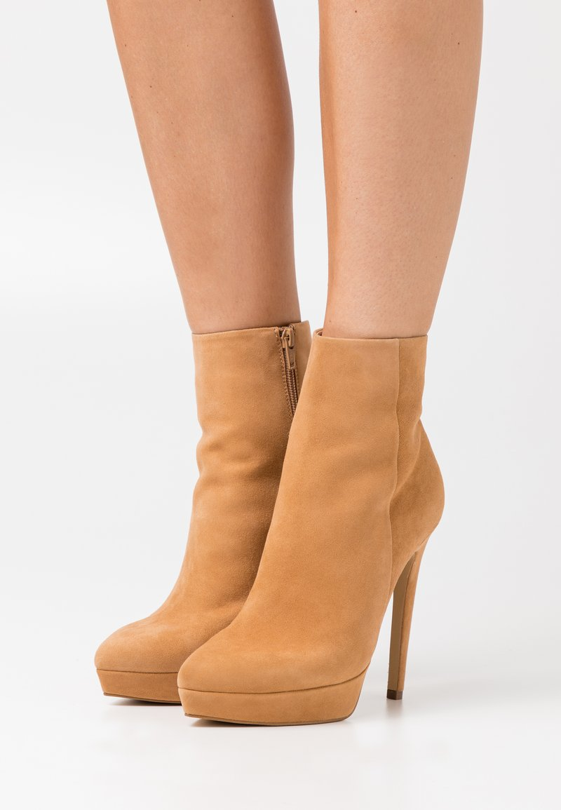 Even&Odd - LEATHER - Kotníková obuv na vysokém podpatku - beige