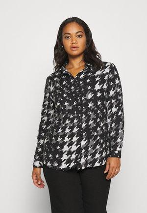 DIPPED BACK SHIRT - Button-down blouse - black