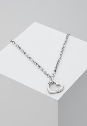 HEARTED CHAIN - Naszyjnik - silver-coloured