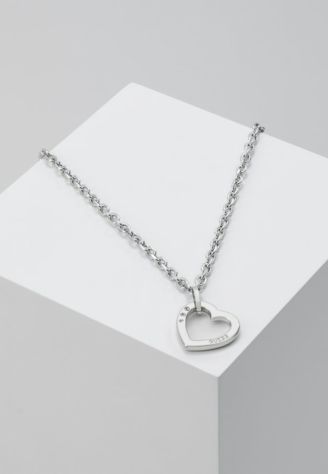 HEARTED CHAIN - Collana - silver-coloured