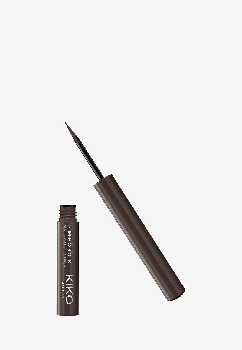 KIKO Milano - SUPER COLOUR WATERPROOF EYELINER - Eyeliner - 09 dark brown