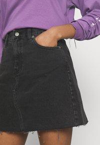 Dr.Denim - ECHO SKIRT - Mini skirt - charcoal black - 3
