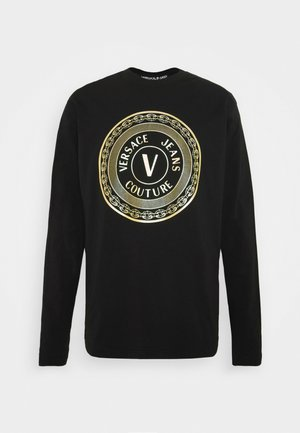 LOGO - Long sleeved top - black/gold