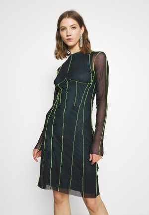 D VINA DRESS - Vestito estivo - black/lemon