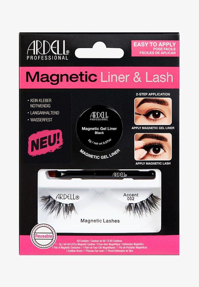 MAGNETIC LASH & LINER ACCENT 002 - False eyelashes - -