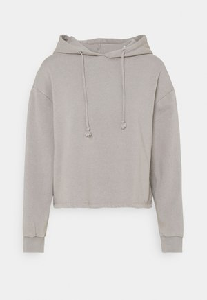 PCCHILLI LWASHED HOODIE - Sweatshirt - light grey melange