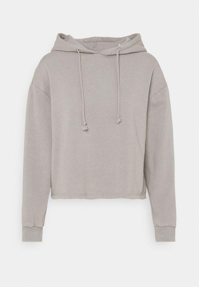 PCCHILLI LWASHED HOODIE - Sweatshirt - light grey melange