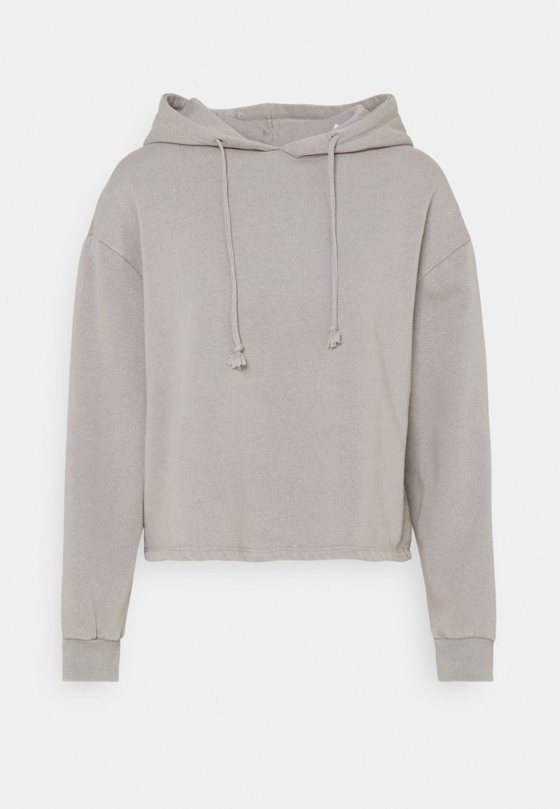 Pieces Petite - PCCHILLI LWASHED HOODIE - Sweatshirt - light grey melange