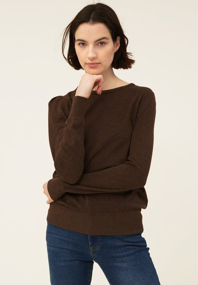 YVETTE COTTON/BAMBOO - Neule - brown