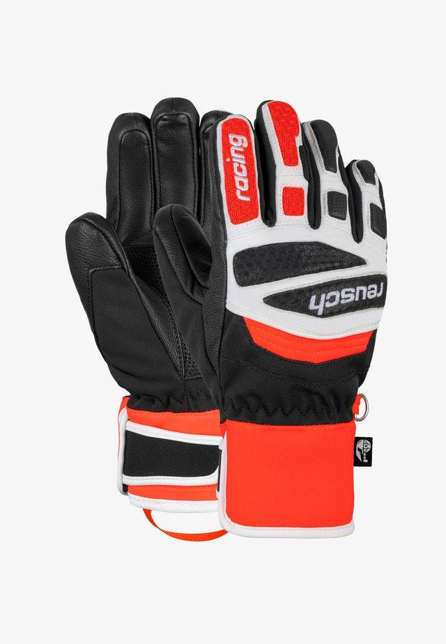 Fingerhandschuh - black/white/fluo red