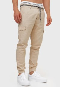 INDICODE JEANS - BOOTH - Cargo trousers - fog - 3