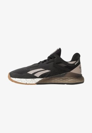 NANO X - Sports shoes - black/moodus/chalk