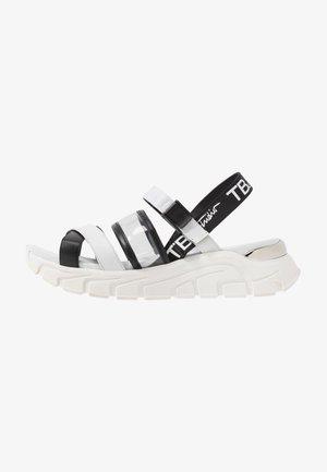 PONZA - Platform sandals - bianco/nero