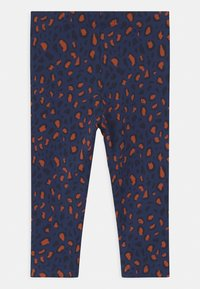 TINYCOTTONS - ANIMAL PRINT - Leggings - Trousers - light navy/dark brown - 1