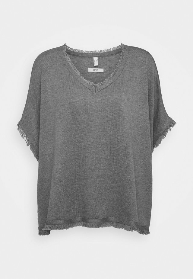 PONCHO CROP - Cape - grey
