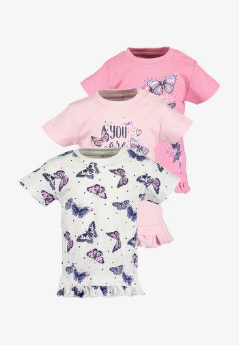 GIVE ME WINGS - Print T-shirt - rose
