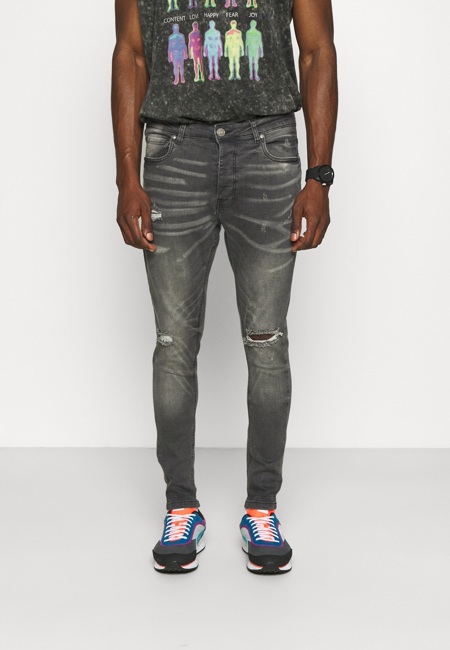 Men MJN-MAX - Jeans Skinny Fit - mid grey