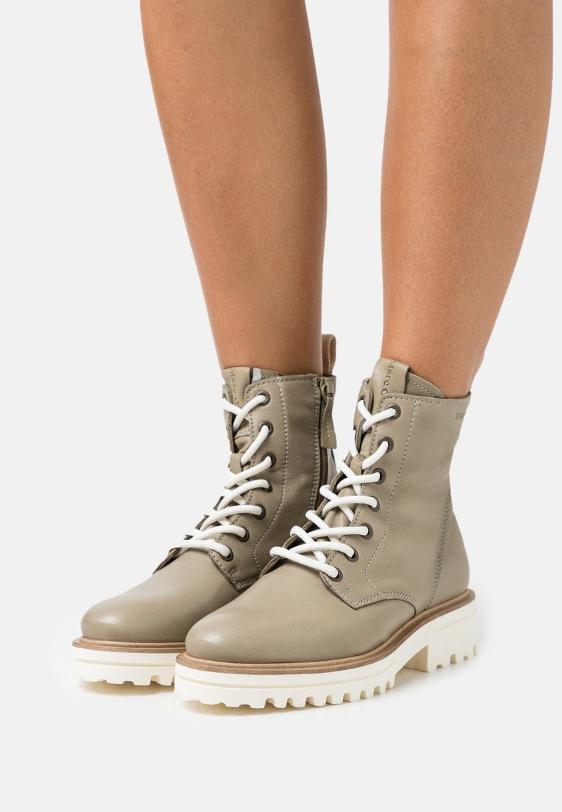 Marc O'Polo - LICIA  - Lace-up ankle boots - light oliv