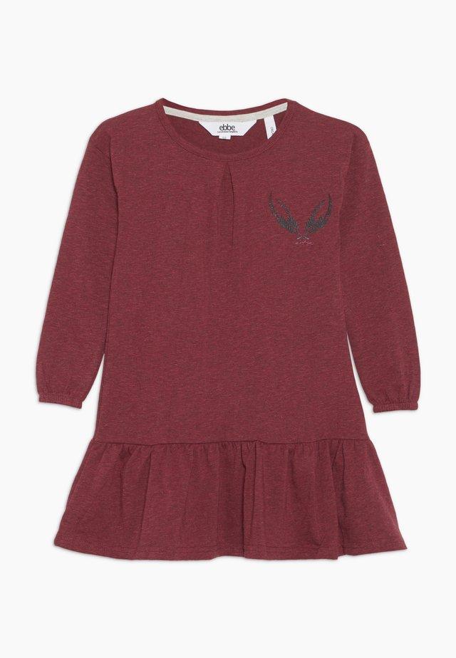 ISADORA DRESS - Vestito di maglina - cherry red melange
