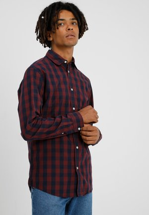 JJEGINGHAM - Chemise - port royale/mixed navy