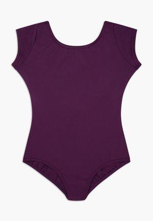 BALLET CAP SLEEVE - trikot na gymnastiku - aubergine