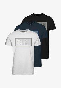 Jack & Jones - 3 PACK - T-shirt print - navy blazer - 5