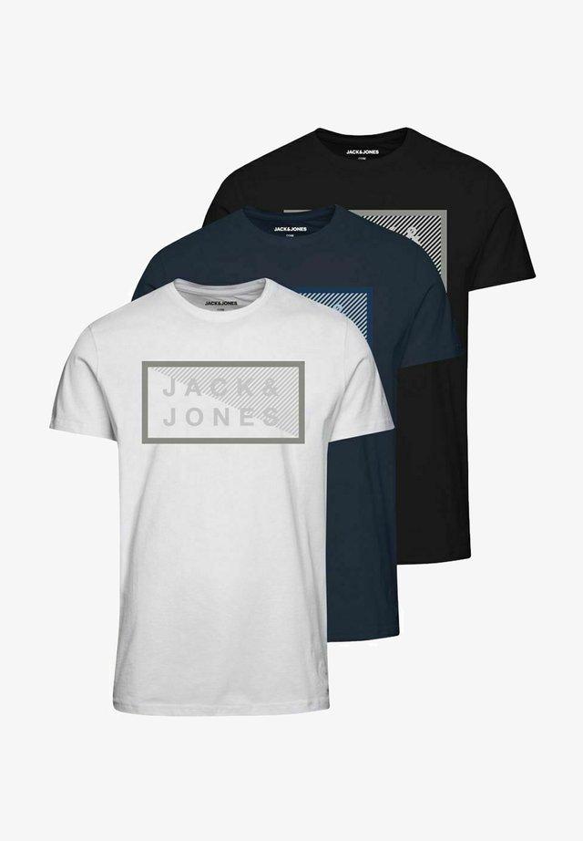 3 PACK - T-shirt imprimé - navy blazer