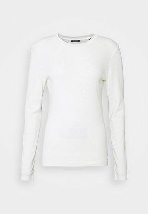 LONG SLEEVE ROUND NECK - Bluzka z długim rękawem - off white