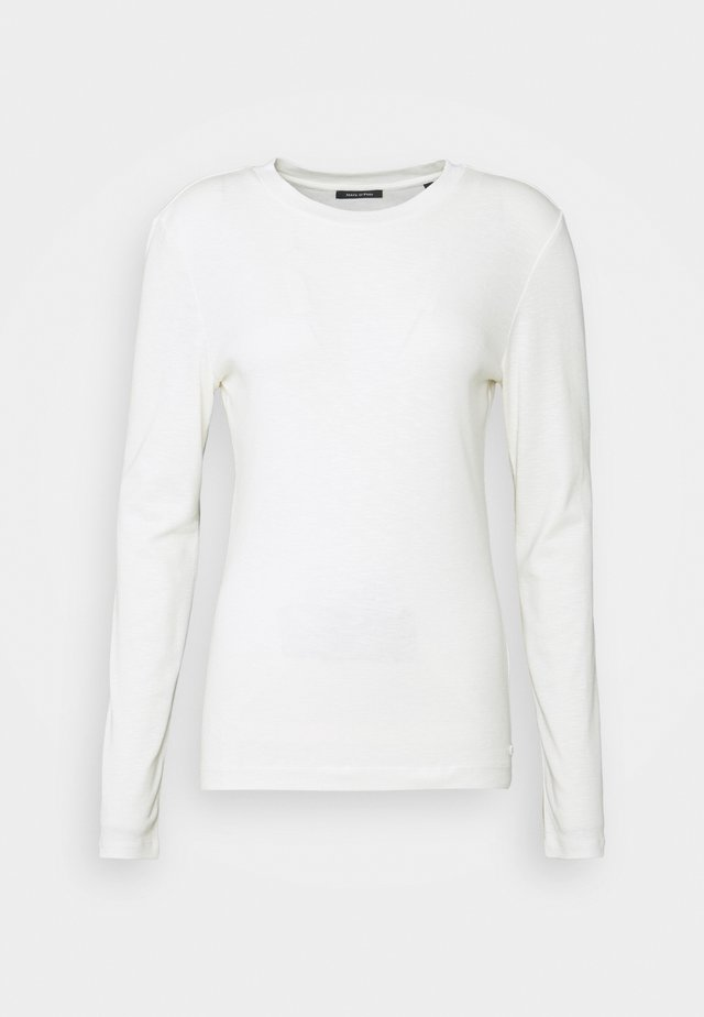 LONG SLEEVE ROUND NECK - Langærmede T-shirts - off white