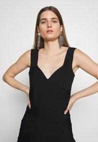 Hervé Léger - ICON FLARE SKIRT DRESS - Robe de soirée - black - 4