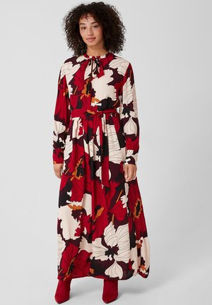 MIT BLUMENMUSTER - Maxi-jurk - bordeaux
