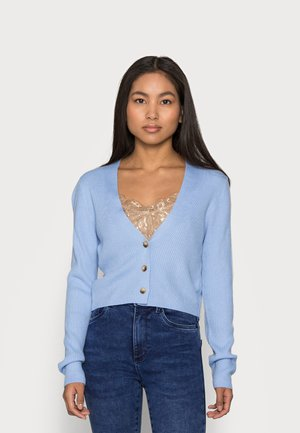 CROP CARDIGAN - Kardigan - pale blue