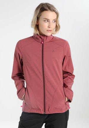 JACKET TARIJA - Soft shell jacket - dark red