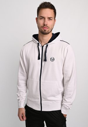 KAPUZENJACKE NEW ELBOW SWEATER - Zip-up hoodie - wht/nav