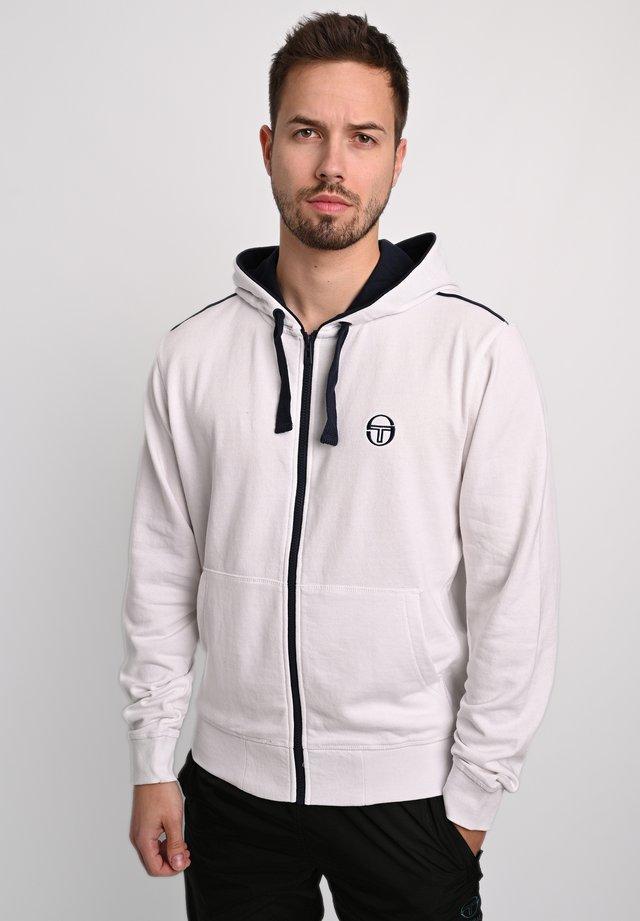 Zip-up hoodie - wht/nav