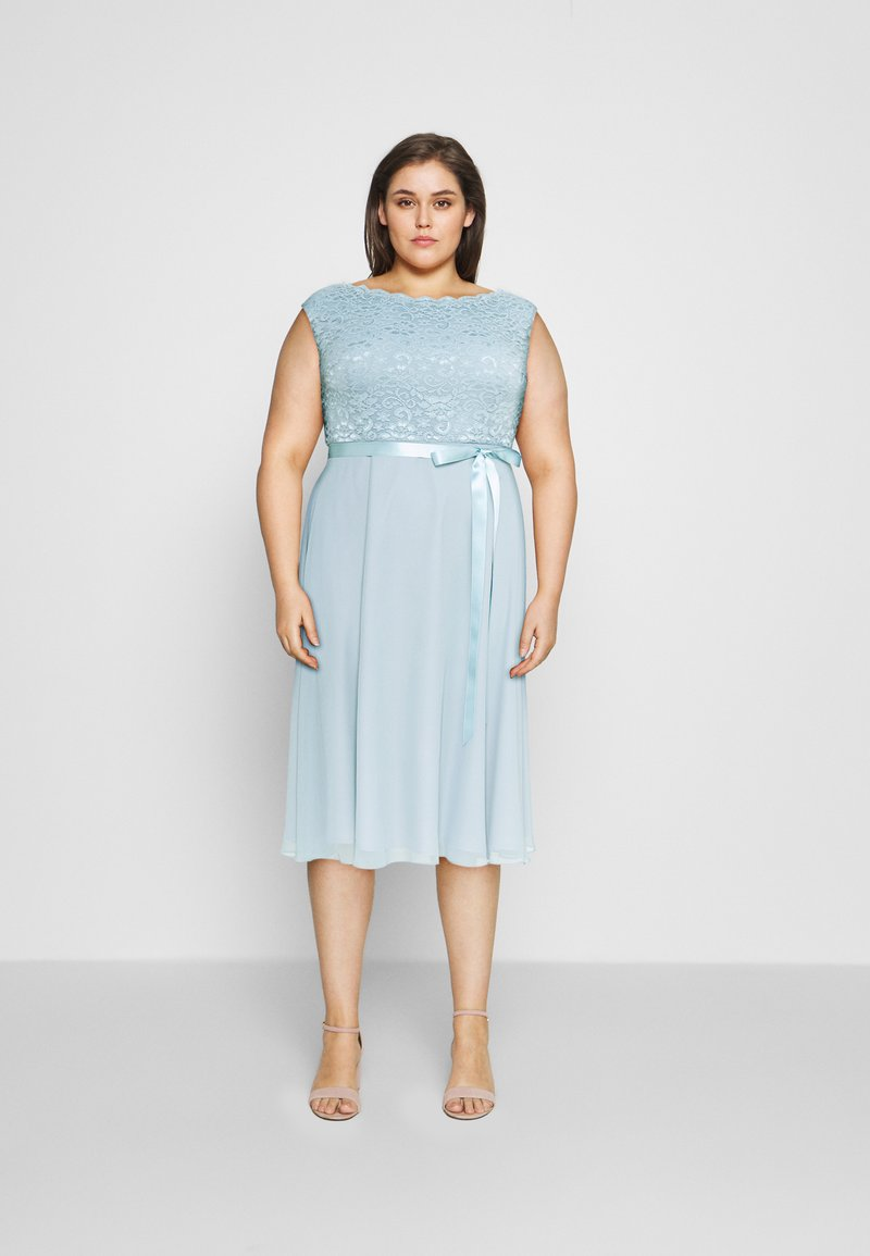 Swing Curve - Cocktail dress / Party dress - blue dust