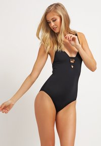 Seafolly - ACTIVE DEEP V MAILLOT - Swimsuit - black - 1