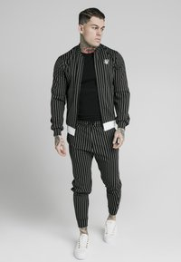 SIKSILK - PINSTRIPEJACKET - Giubbotto Bomber - black/white - 0