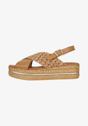 Platform sandals - cuir