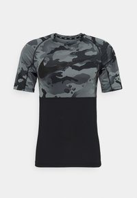 SLIM CAMO - T-shirt imprimé - black/grey fog