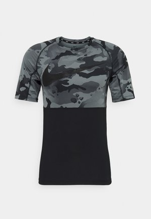 SLIM CAMO - Print T-shirt - black/grey fog